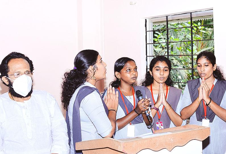 Prayer by Students of AM College of Pharmacy, Vavvakkavu, Karunagappally
